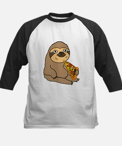 Funny Sloth Eating Pizza Baseball Jersey