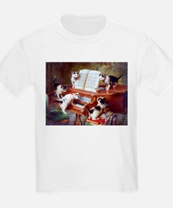 Cats on a Piano; Vintage Poster T-Shirt