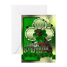 Happy St Dobies Day - Doberma Greeting Card