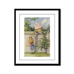 Alice and Humpty Dumpty Framed Panel Print