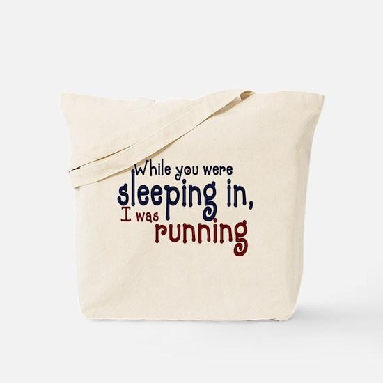 Sleeping in Tote Bag