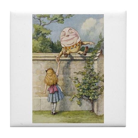 Alice and Humpty Dumpty Tile Coaster