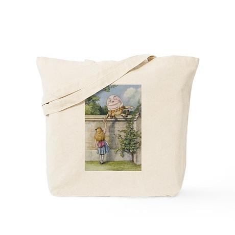 Alice and Humpty Dumpty Tote Bag
