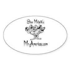Mascot George Oval Decal