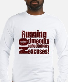 Running No Excuses Long Sleeve T-Shirt