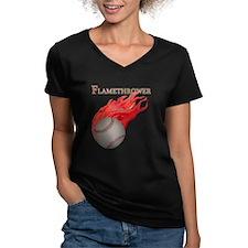 Flamethrower Baseball Shirt