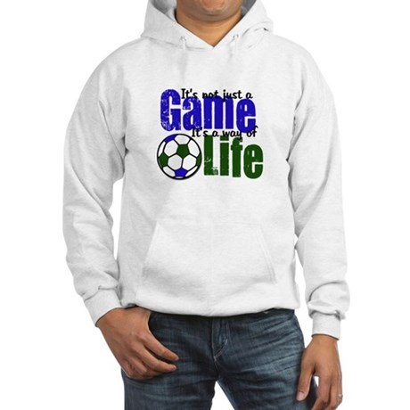 Soccer Sport Game LIfe Hooded Sweatshirt