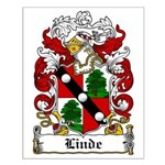 Linde Coat of Arms Small Poster