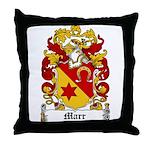 Marr Coat of Arms Throw Pillow