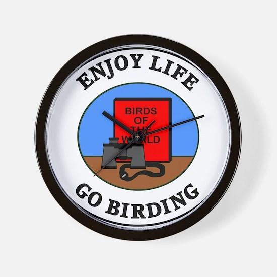 Enjoy Life Go Birding Wall Clock