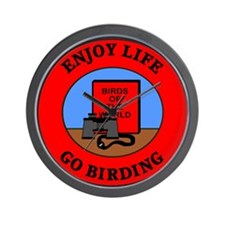 Enjoy Life Go Birding Wall Clock