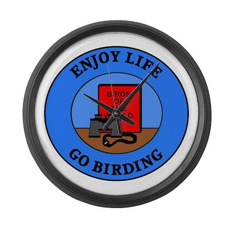 Enjoy Life Go Birding Large Wall Clock