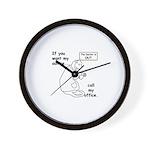 Dr's Advice... Call Office! Wall Clock