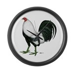 Duckwing Gamecock Large Wall Clock