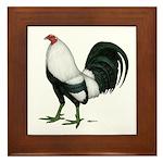 Duckwing Gamecock Framed Tile