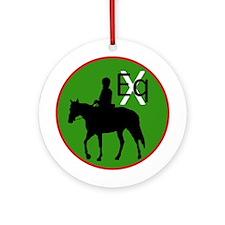 Equestrian Crossings Ornament (Round)