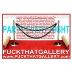 LG Williams: Party Every Night Exhibition Poster