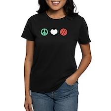 Peace Love Bocce Tee