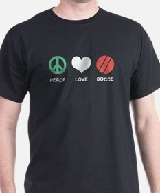 Peace Love Bocce T-Shirt