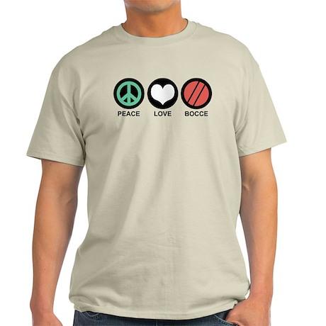Peace Love Bocce Light T-Shirt