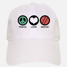 Peace Love Bocce Baseball Baseball Cap