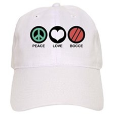 Peace Love Bocce Baseball Cap
