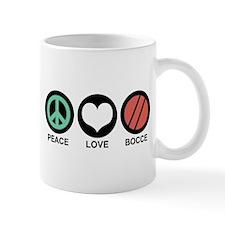 Peace Love Bocce Small Mug