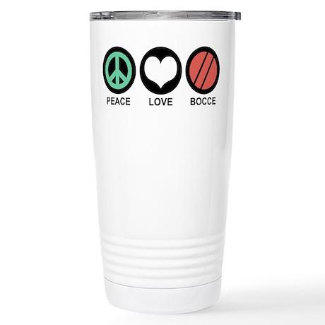 Peace Love Bocce Stainless Steel Travel Mug