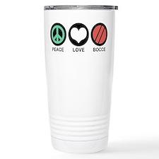 Peace Love Bocce Travel Mug