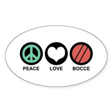 Peace Love Bocce Decal