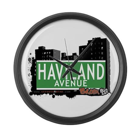 Haviland Av, Bronx, NYC Large Wall Clock