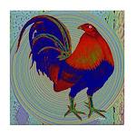 Impressionist Gamecock Tile Coaster
