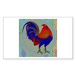 Impressionist Gamecock Sticker (Rectangle 50 pk)
