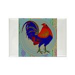 Impressionist Gamecock Rectangle Magnet (10 pack)