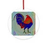 Impressionist Gamecock Ornament (Round)