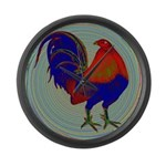 Impressionist Gamecock Large Wall Clock