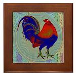 Impressionist Gamecock Framed Tile