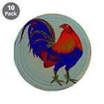 """Impressionist Gamecock 3.5"""" Button (10 pack)"""