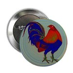 """Impressionist Gamecock 2.25"""" Button (100 pack"""