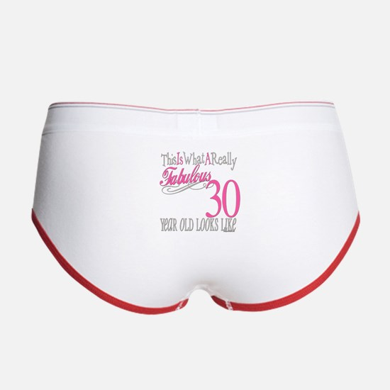30th Birthday Gifts Women's Boy Brief