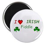 "Love Irish Fiddle 2.25"" Magnet (10 pack)"