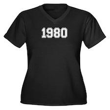 1980 Women's Plus Size V-Neck Dark T-Shirt
