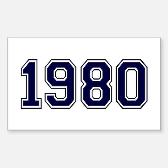 1980 Sticker (Rectangle)