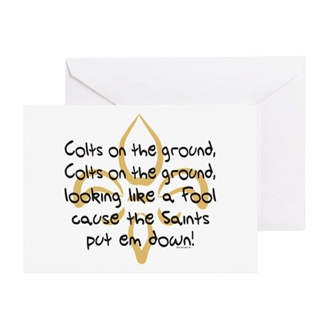 Colts on ground Greeting Card