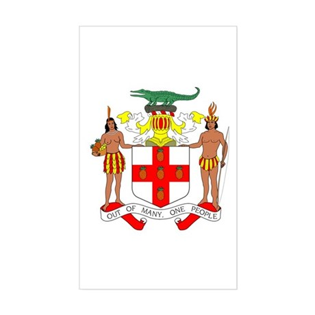 Jamaica Coat of Arms Sticker (Rectangle)