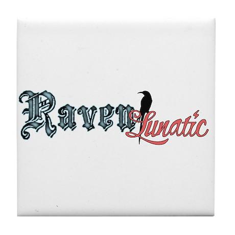 Raven Lunatic Tile Coaster