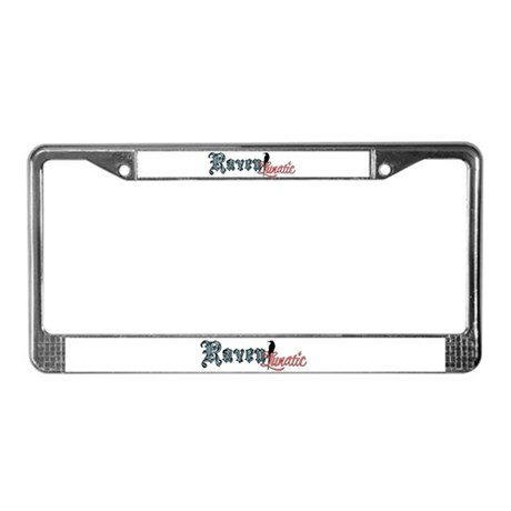 Raven Lunatic License Plate Frame