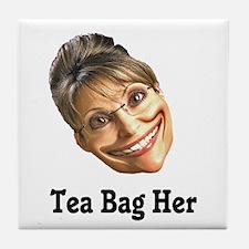 Tea Bag Her Tile Coaster