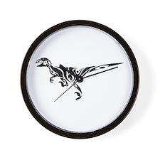 Tribal Raptor Wall Clock
