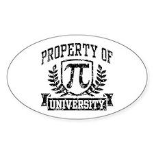 Property of Pi University Decal